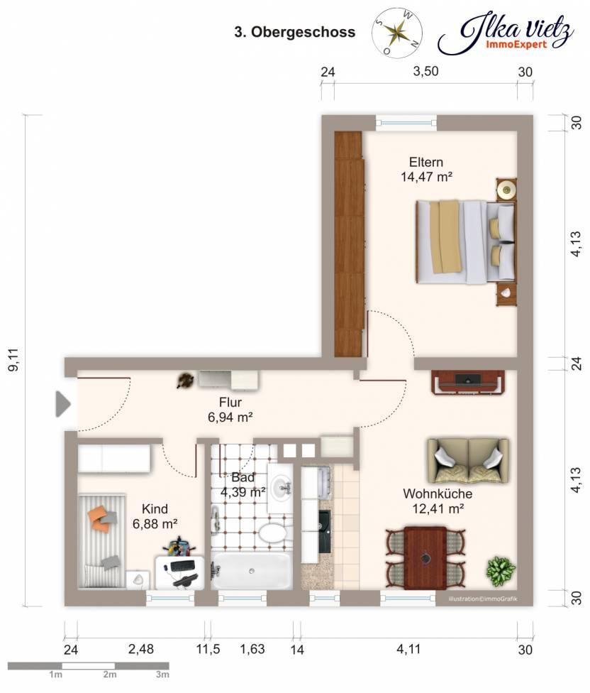 Wohnungsverkauf Neu-Ulm - Grundriss